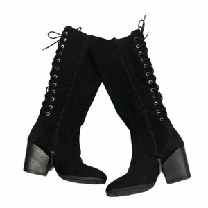 Circus by Sam Edelman Black Teydin Lace back Boots